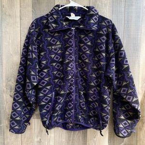 Vintage Columbia Full Zip Purple Tribal Jacket M